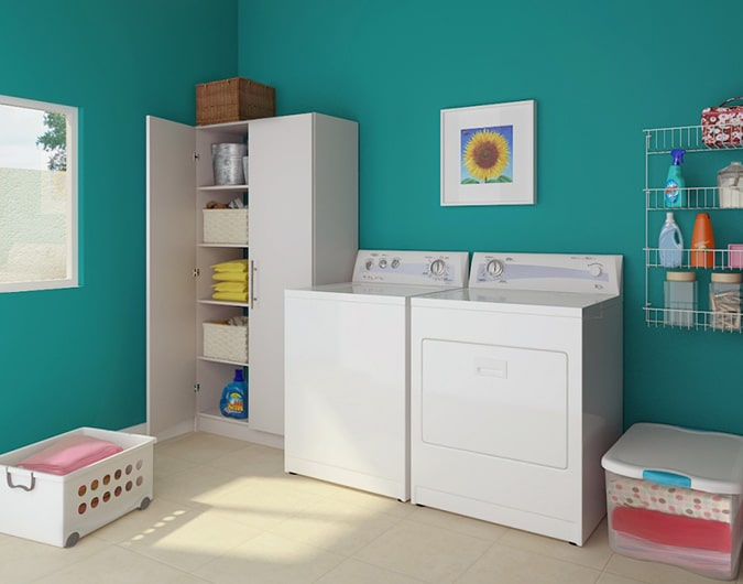 Armarios para lavadoras exterior good funda lavadora for Mueble lavadora exterior