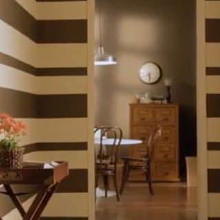 Cómo pintar una pared con rayas horizontales