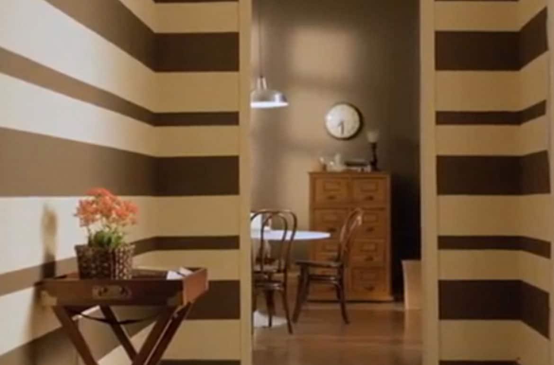 C mo pintar una pared con rayas horizontales the home - Estilos de pintar paredes ...