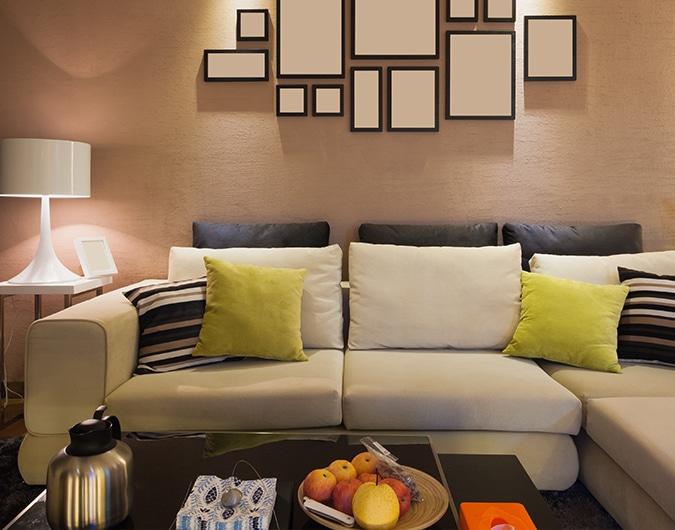 Cómo decorar una sala pequeña – The Home Depot  Haz más